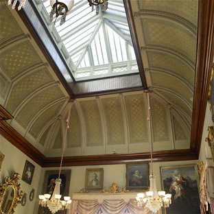 Ballroom Ceiling (photo from www.calhounmansion.net)