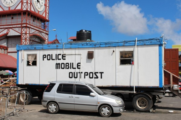 State-of-the-art police outpost--watch out would-be criminals