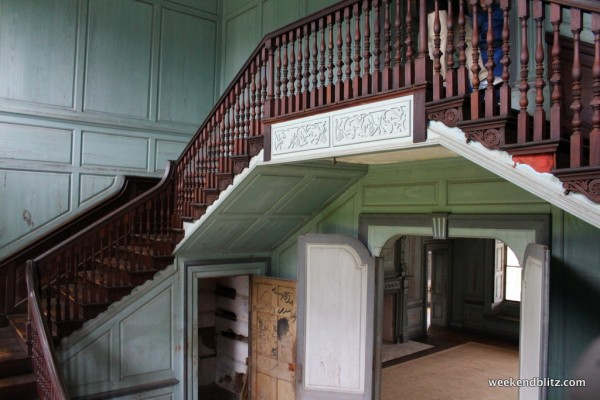 "Very impressive ""Stair Hall"" featuring 27-foot ceilings"