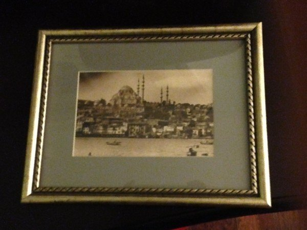 This vintage photo of the city's most recognized mosque came already framed... for 5 euros.