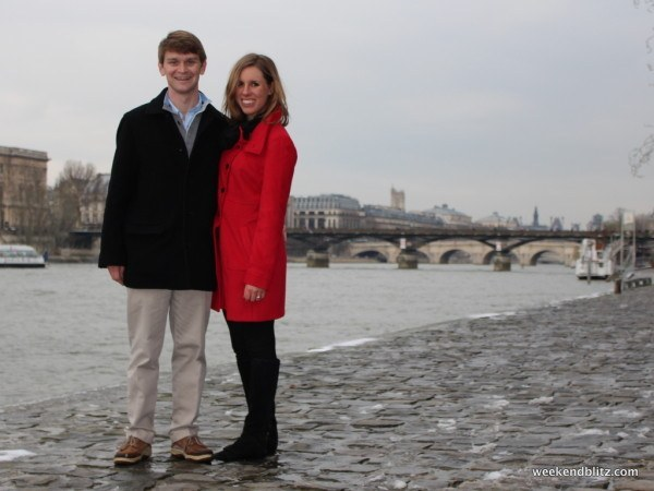 Here's where we really got engaged - right by the Seine River!