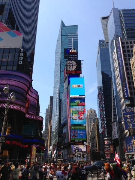 No New York trip is complete without Times Square
