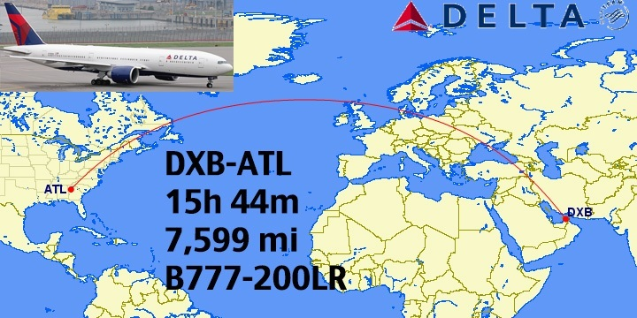 Top 12: Longest Non-Stop Delta Flights in the World