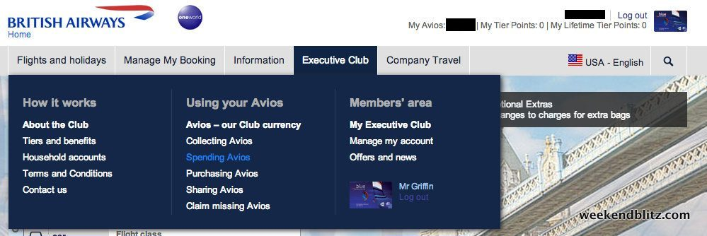 british airways manage my booking