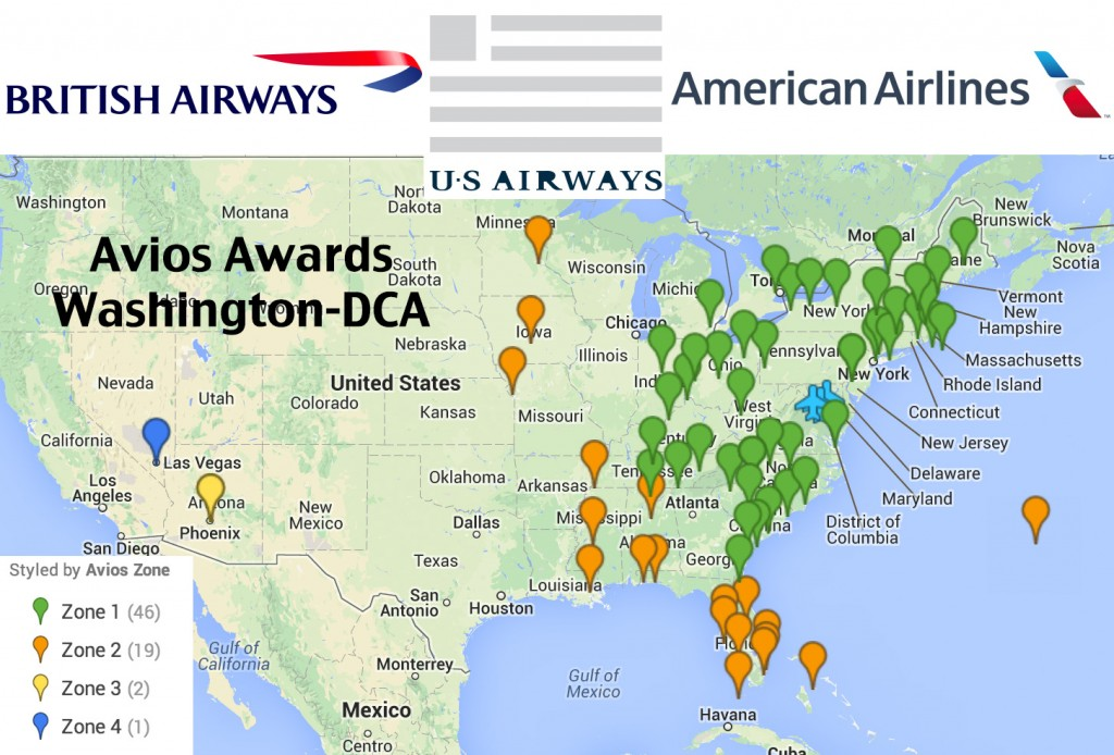 US Airways Flights: Using British Airways Avios out of Washington ...