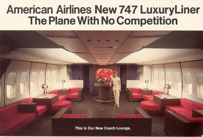 American's 747 Coach Lounge