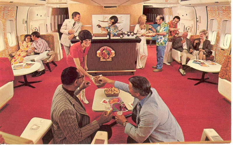 Top 6 Awesome Vintage Airline Lounges ON Airplanes
