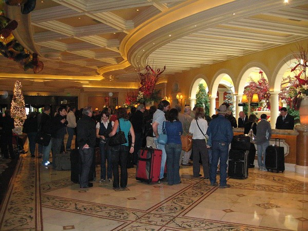 Bellagio Lobby Check-In Area