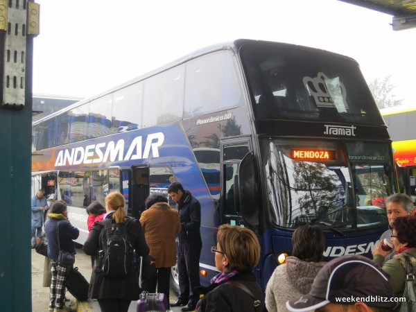 Andesmar: Our double-decker chariot that would (hopefully) carry us over the mountains safely