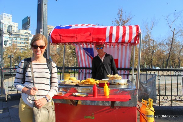 ...some crazed street vendor told us to man his food cart