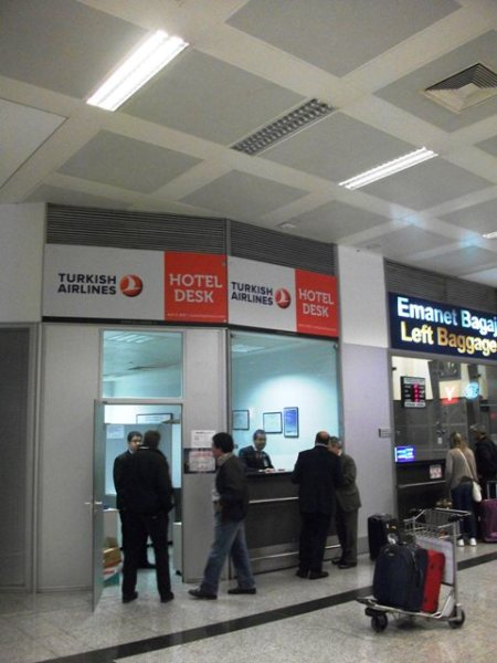 Turkish Airlines Hotel Desk Istanbul IST Airport 2