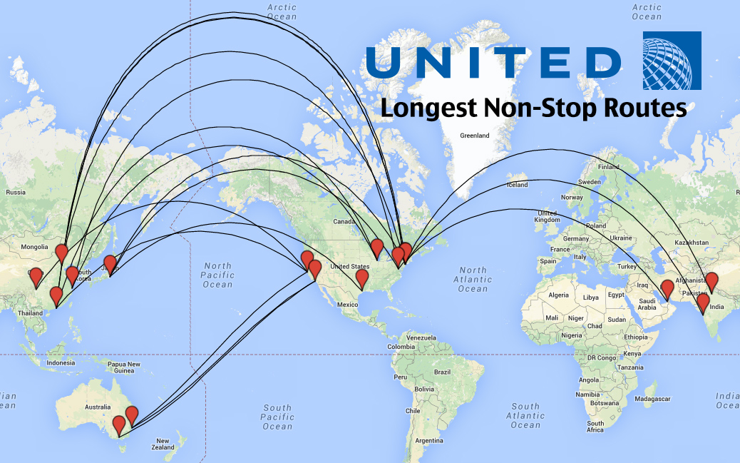 Top 14 longest united airlines flights in the world weekend blitz top 14 longest united airlines flights in the world gumiabroncs Gallery