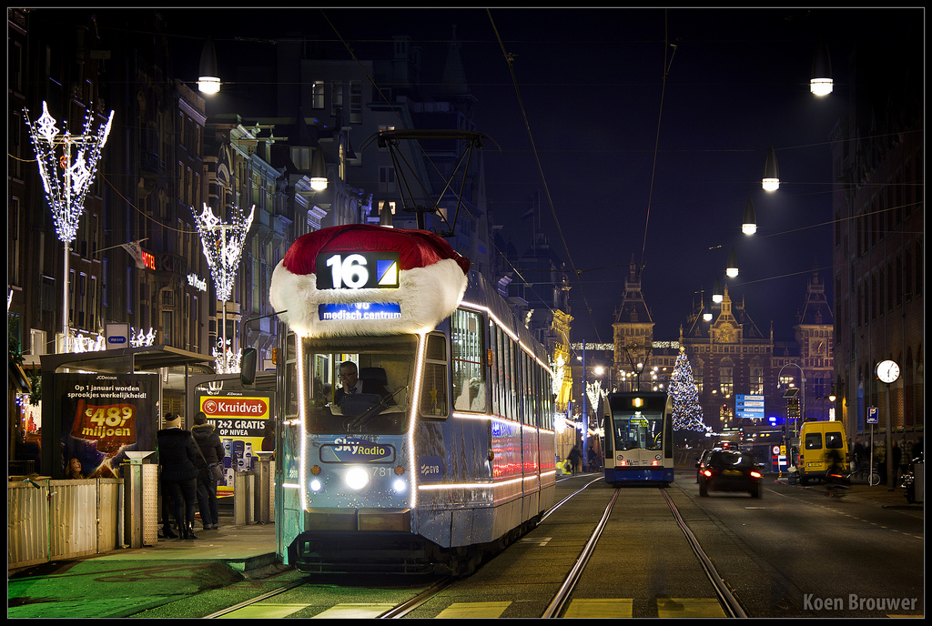 Kersttram photo