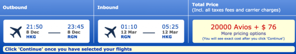 dragonair hkg-rgn hong kong to yangon