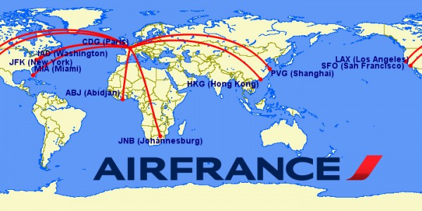 airfrance a380 routes