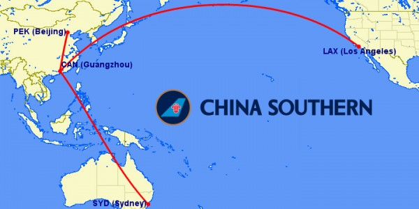 chinasouthern a380 routes