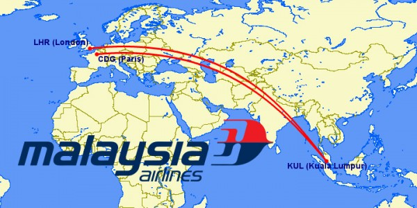 malaysian a380 routes