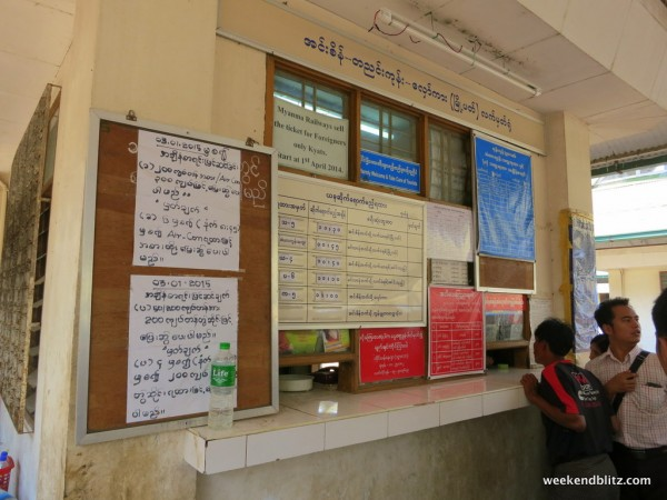 Ticket Booth at Yangon's main station