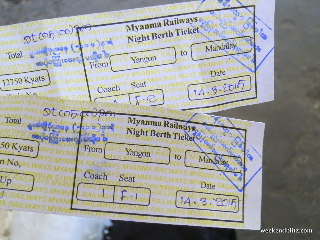 How-to: Booking a Train Ticket on Myanmar Railways | Weekend