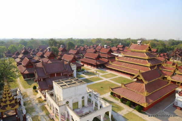 View of Mandalay Palace from the Watch Tower