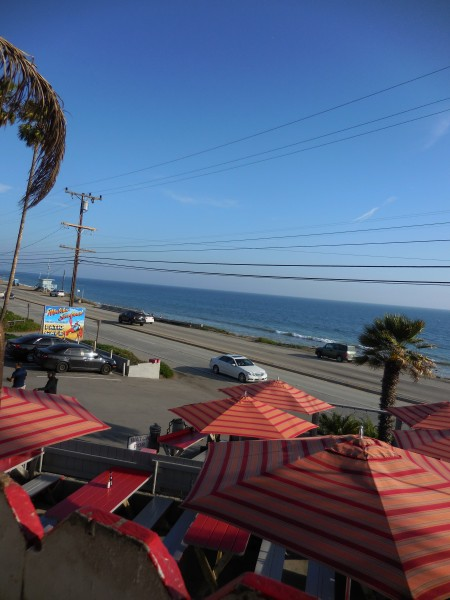 views of the Pacific from Malibu Seafood