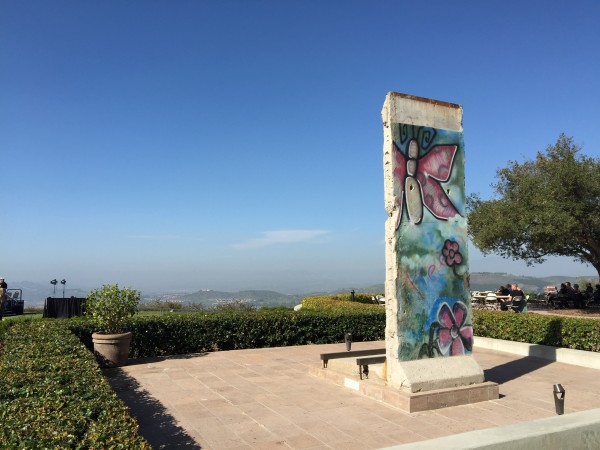 Part of the Berlin Wall at the Ronald Reagan Presidential Library
