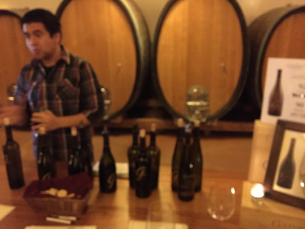 Wine tasting at Gainey Vineyard