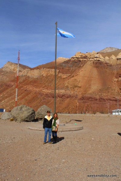 At the border - about to cross over into Argentina