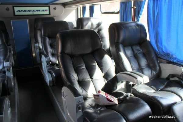 Downstairs leather seats
