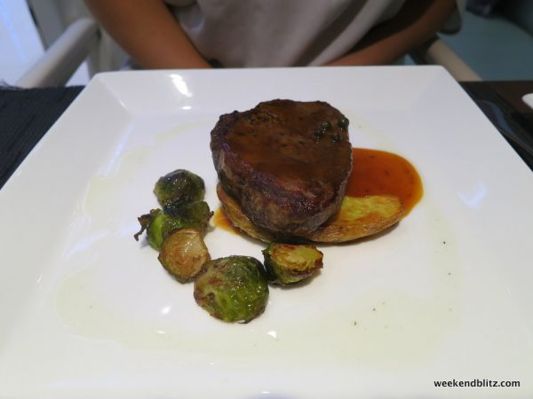 Main course: Sirloin