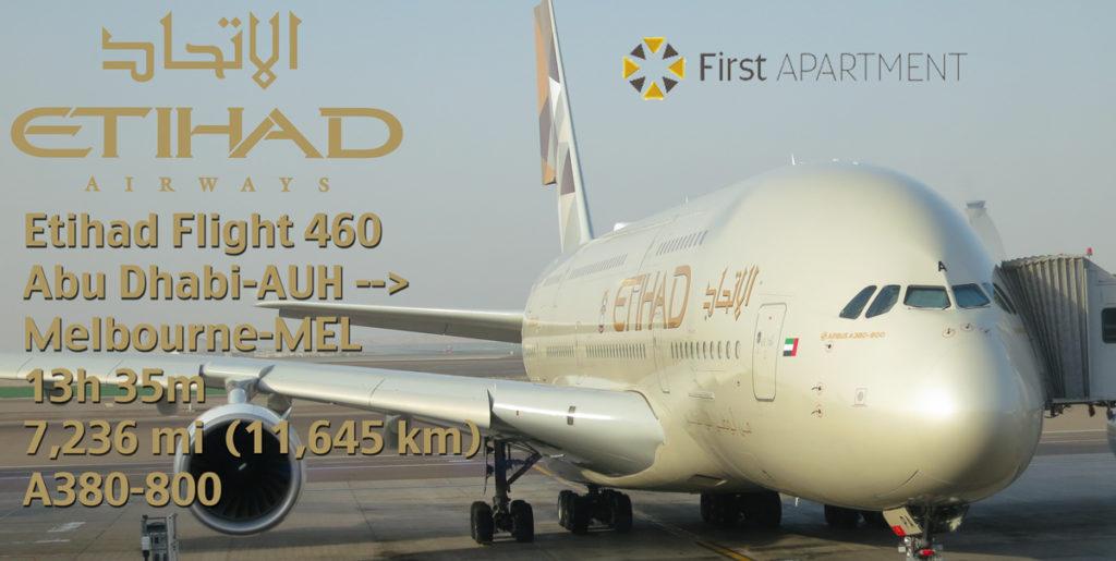 Etihad A380 First Apartment – Flight EY 460 Abu Dhabi-AUH to ...